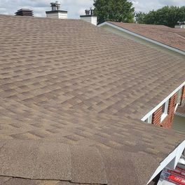 Top view of roof shingles